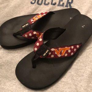 Tops - VA TECH flip flops